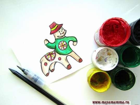 рисунок каргопольская игрушка