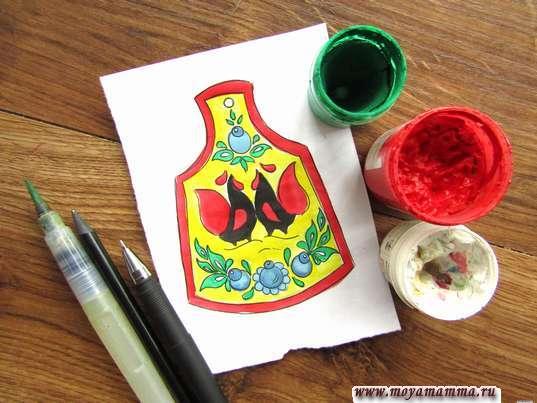 рисунок мезенская роспись