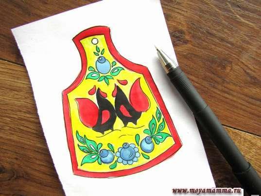 Рисунок мезенская роспись. Контур рисунка