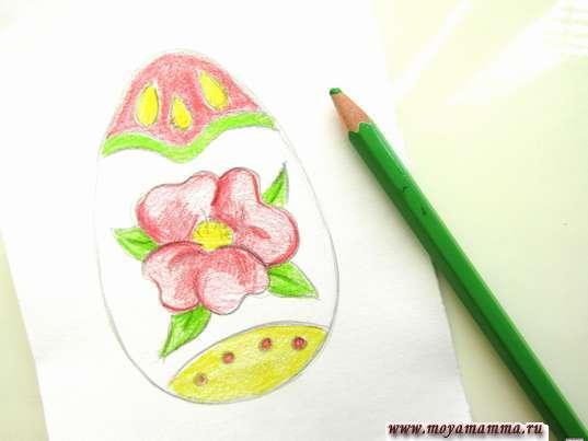 Раскрашивание зеленым карандашом