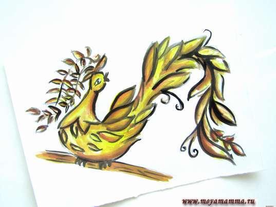 рисунок Птица счастья