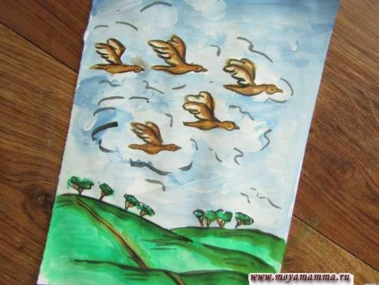 Рисунок Птицы улетают на юг
