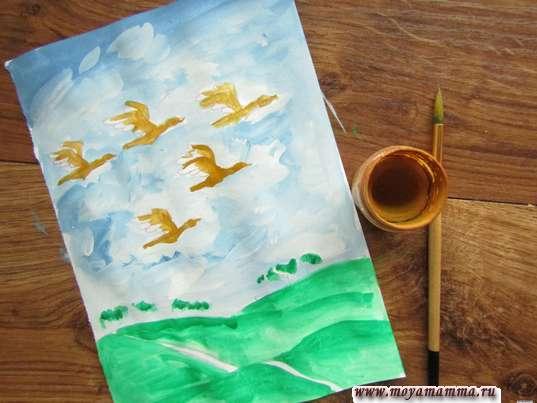 Раскрашивание птиц