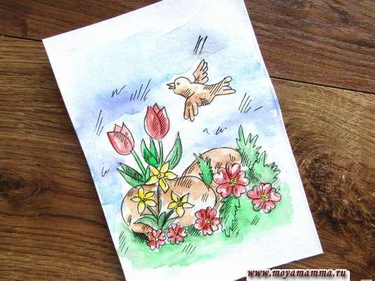 Рисунок Цветочная поляна