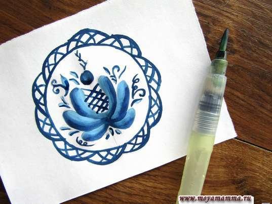 Дополнение синей гуаши для мелких деталей