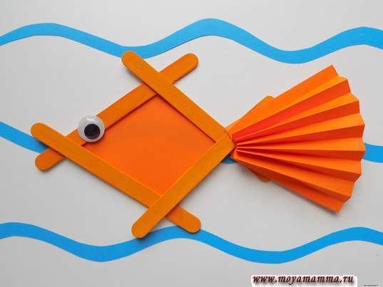 Рыбка из палочек