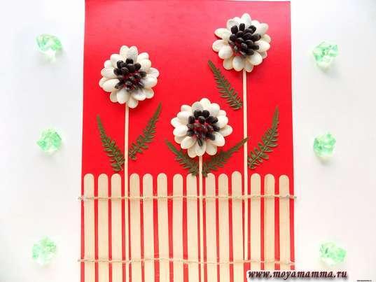 цветы из природных материалов