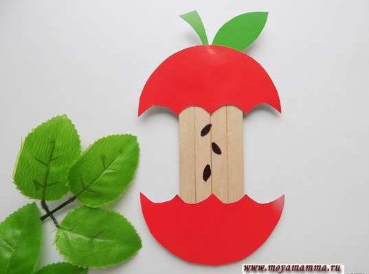 Яблоко из палочек