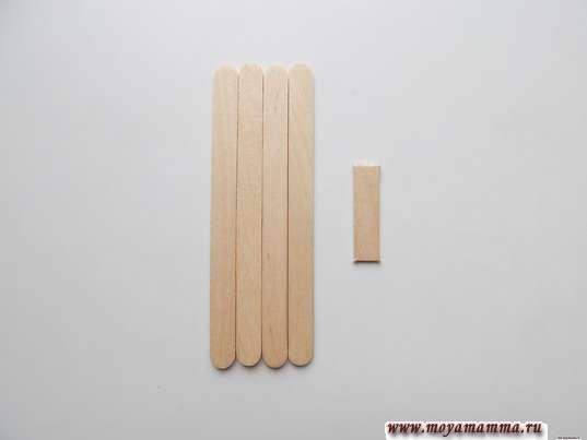 4 целые палочки и небольшой кусочек