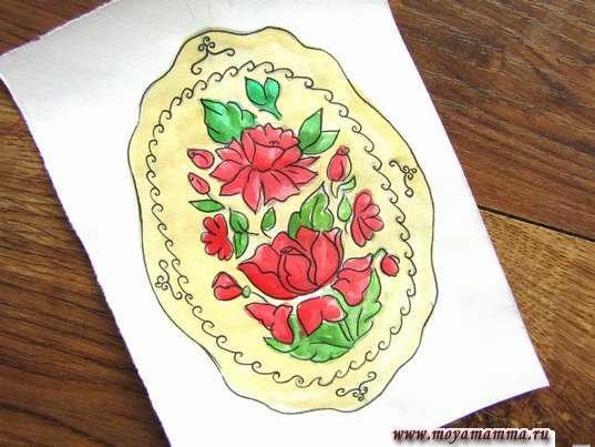 жостовская роспись для детей