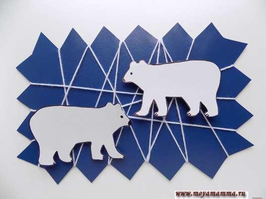 аппликация медведи на льдине