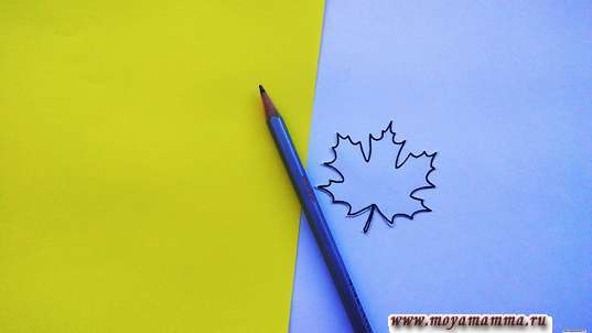 шаблон маленького кленового листика