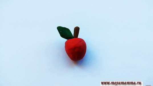 Ежик из каштана. Изготовление яблока