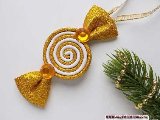 игрушка конфета на елку