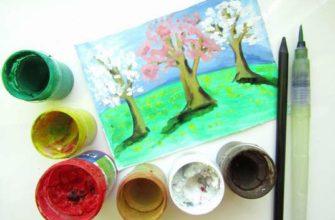 как нарисовать весенний пейзаж