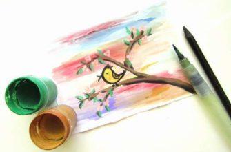Как нарисовать весну красками