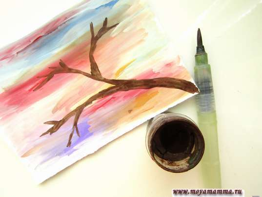 Рисование ветки дерева