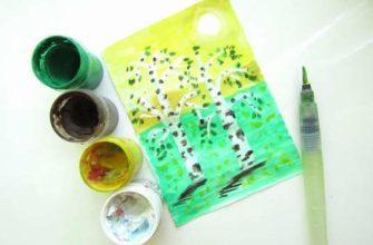 Как нарисовать весенние деревья