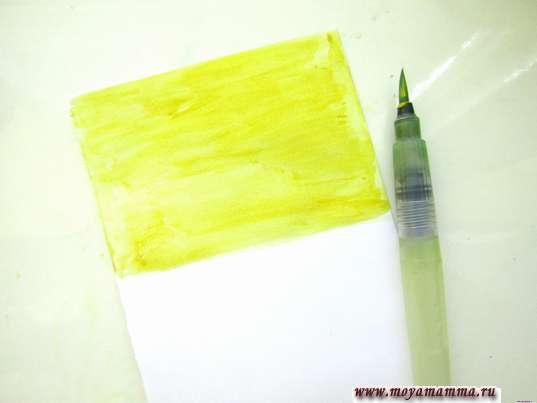 Использование желтой гуаши