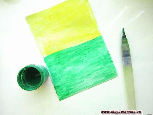 Использование зеленой гуаши