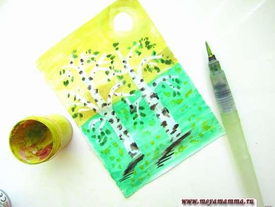 Рисование желтых цветочков
