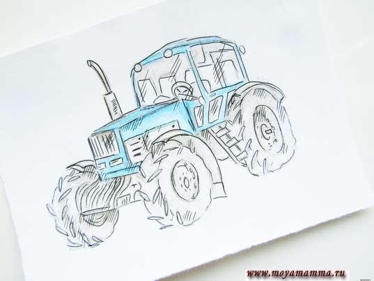 рисунок для детей трактор