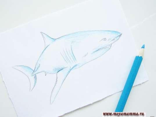 Раскрашивание голубым карандашом