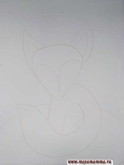 Набросок лисенка