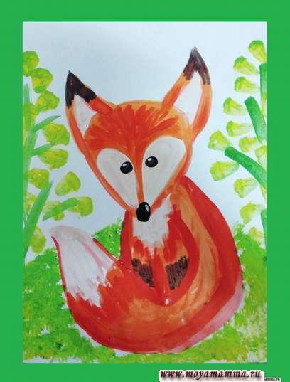 рисунок для детей лисенок