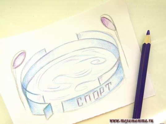 Использование фиолетового карандаша
