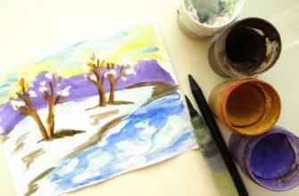 """рисунок """"Тает снег"""""""