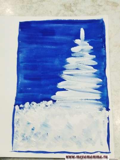Рисование елки