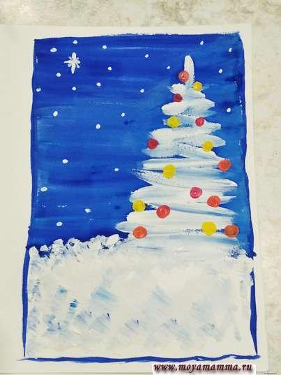 ночные звезды и снежинки