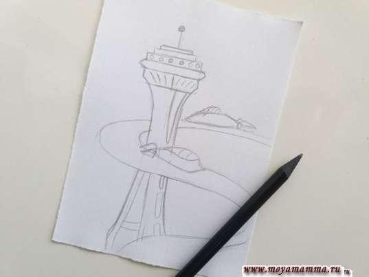 risunok dlya detey gorod buduschego 4 - Нарисовать как будет выглядеть город в будущем