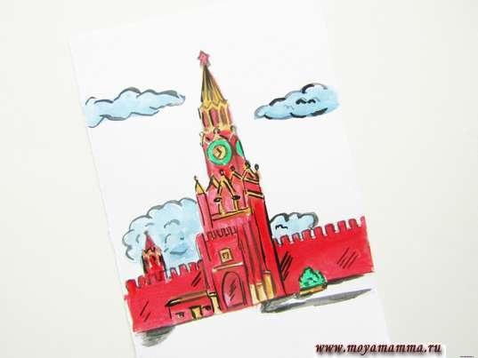 рисунок для детей Кремль
