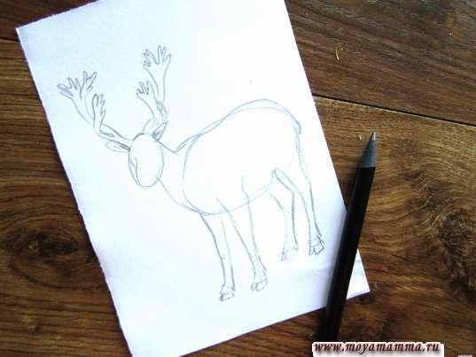 Рисование рогов