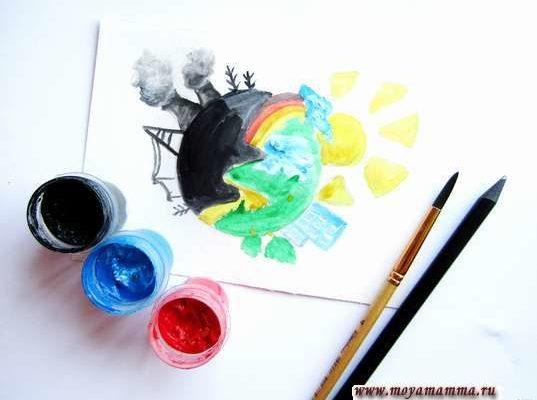 рисунок на тему экология для детей