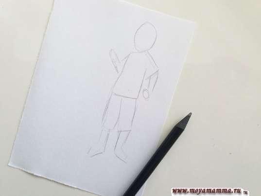 Начало выполнения рисунка
