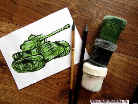 рисунок танка для детей