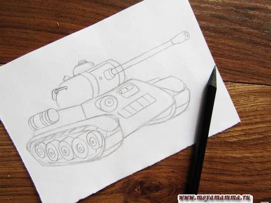 Готовый набросок танка