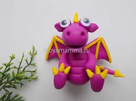 дракон из пластилина
