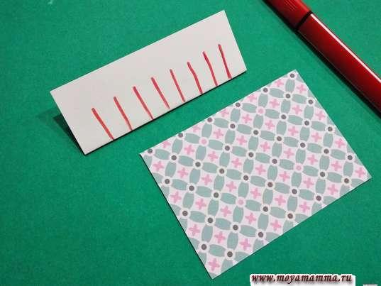 прямоугольник из цветной бумаги размером 6*11 см