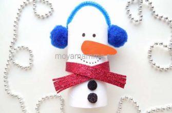 простой снеговик
