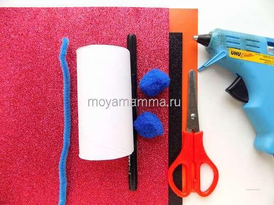 Материалы для изготовления снеговика