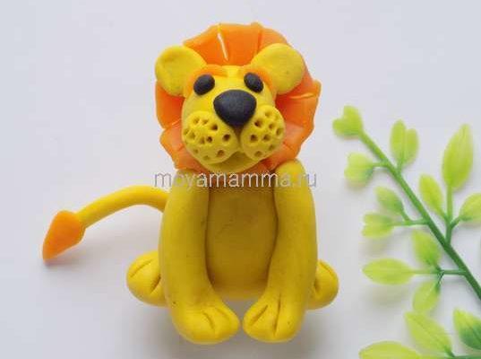 Как слепить льва из пластилина