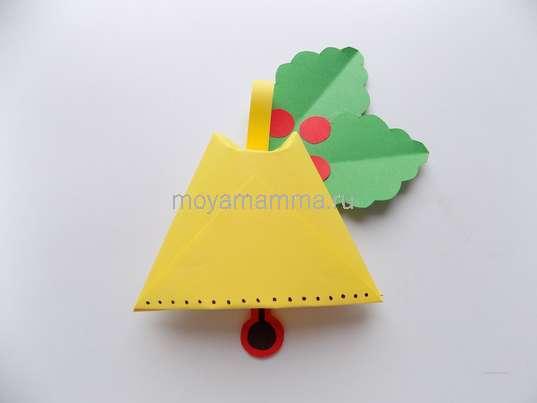 новогодний колокольчик из бумаги