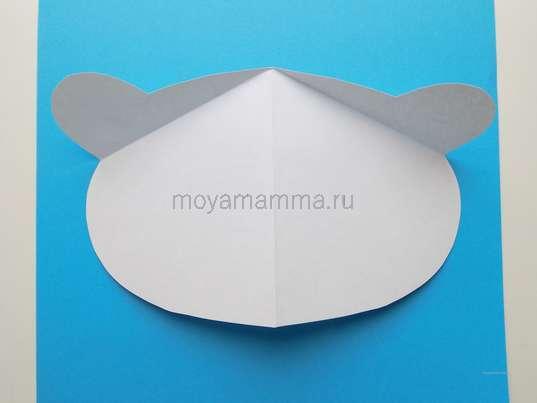 Заготовка для головы белого мишки