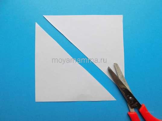 Разрезание квадрата по диагонали