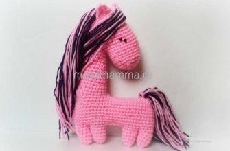 игрушка лошадка крючком