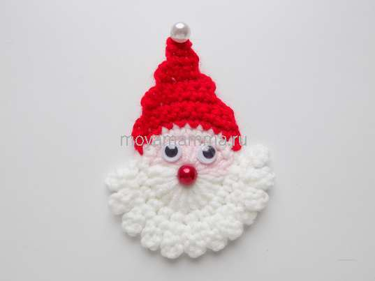 Как связать крючком Деда Мороза